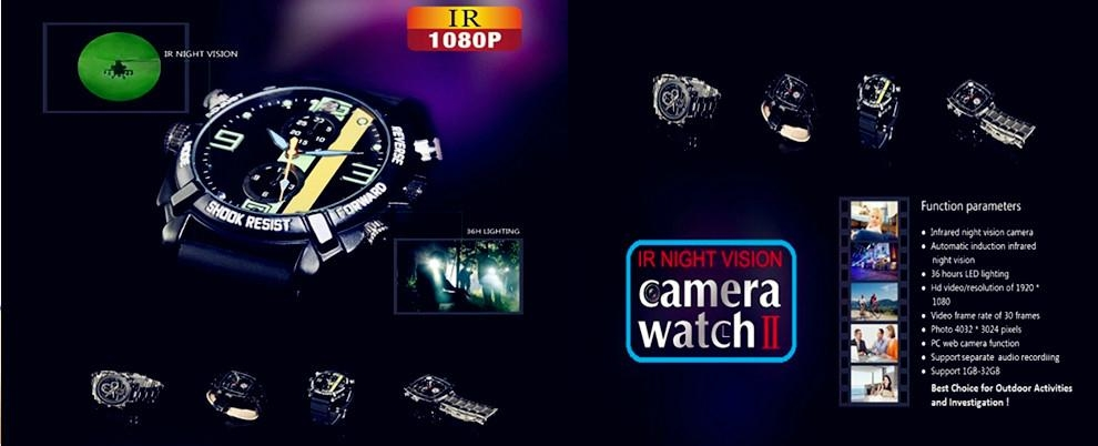 full hd watch camera