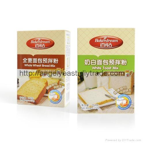 安琪出品 百钻全麦面包预拌粉 奶白/全麦 350g*20盒