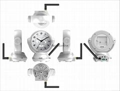 无线WIFI云台钟 家用手机远程监控器 360度旋转