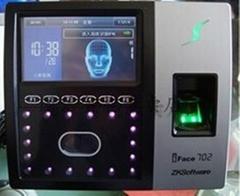 鄭州中控IFACE702人臉+指紋識別考勤機