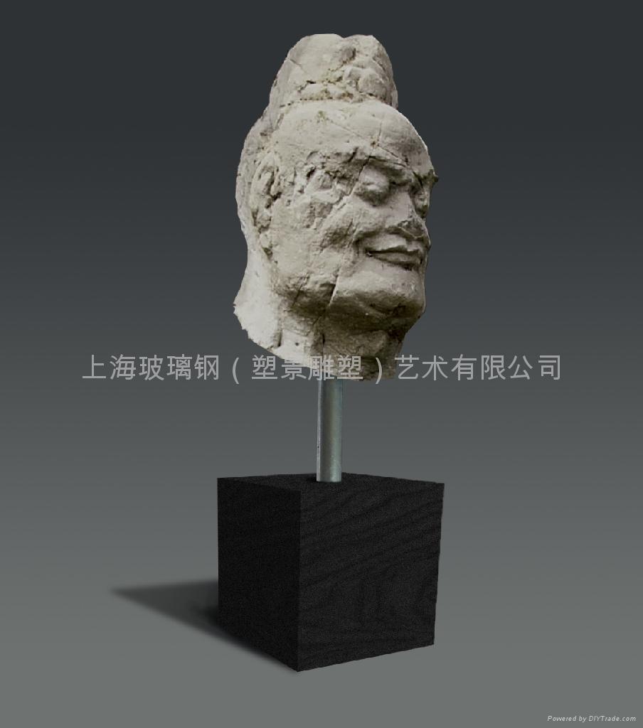 砂岩花盆雕塑 1