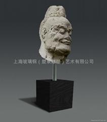 砂岩花盆雕塑