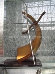 来图定制 不锈钢景观雕塑  抽象雕塑 室内小型雕塑 上海玻璃钢雕塑公司