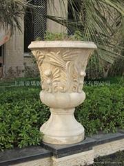砂岩花瓶雕塑