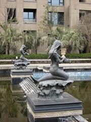 仿铜铸铜人物雕塑