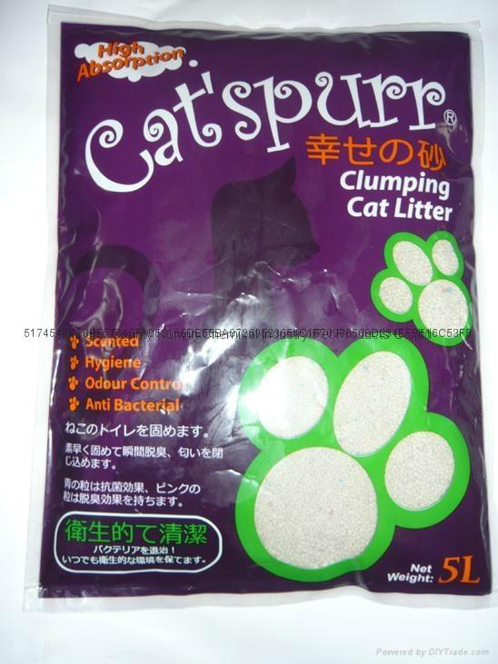 5L grape scent  irregular cat litter