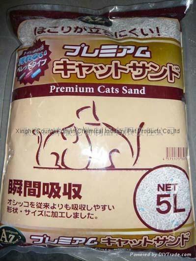5L  strip cat litter 5mm-8mm