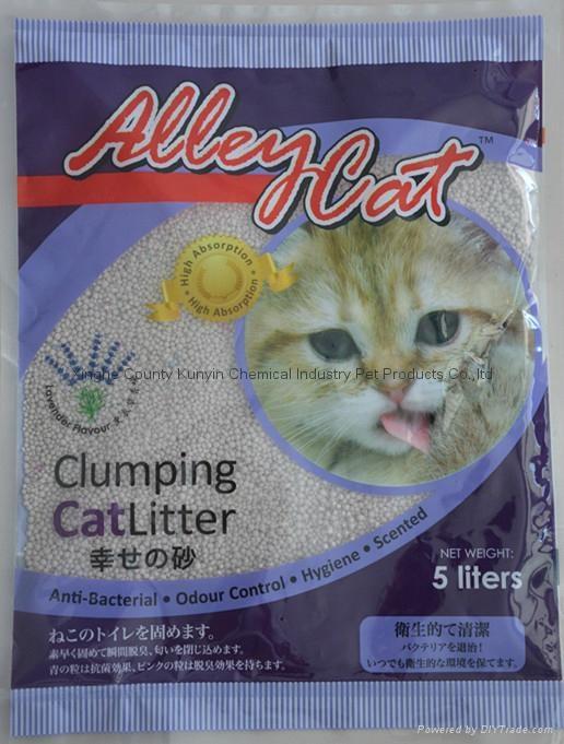 5L lavender flavor strip cat litter  1
