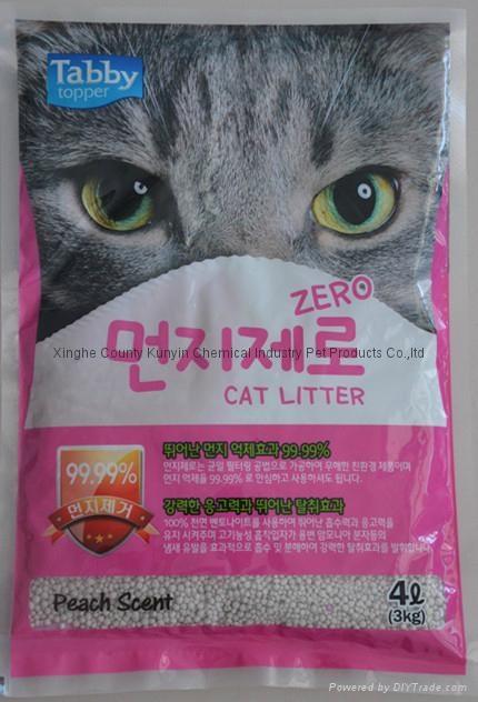 4L peach flavor ball cat litter  1