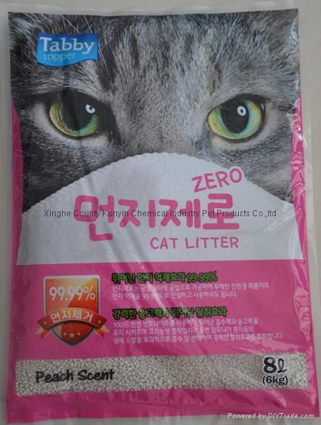 8L peach scent ball cat litter  1