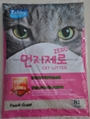 8L peach scent ball cat litter