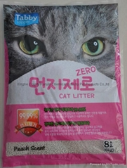 8L peach scent ball cat litter