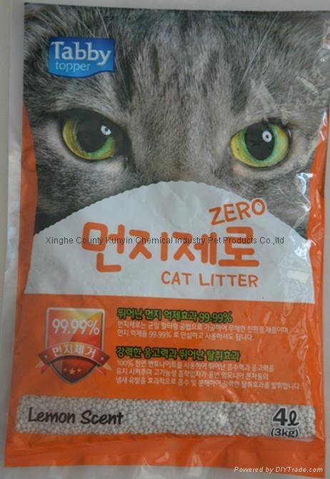 4L  lemon-flavored ball cat litter