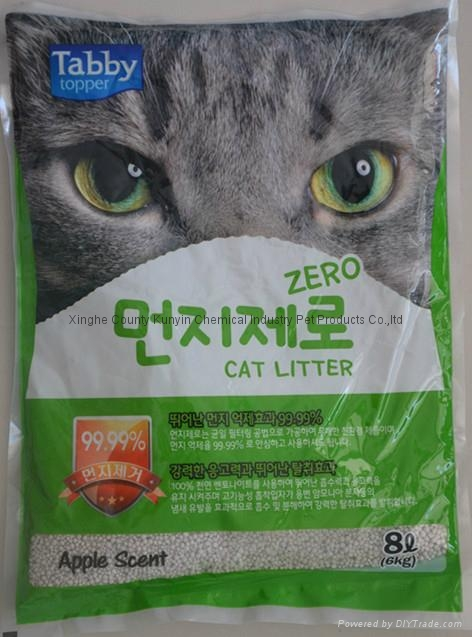 4L baby powder scent  ball cat litter  1
