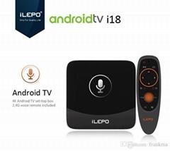 iLEPO i18 Smart Google Voice Control Android TV BOX S905W 2GB 16GB Quad Core Net