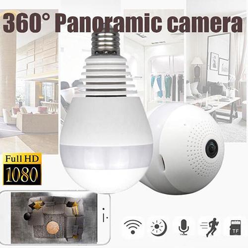 WIFI connection panoramic camera P2P hidden bulb IP camera surveillance HD 1080P 4