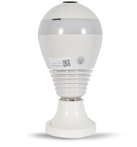 WIFI connection panoramic camera P2P hidden bulb IP camera surveillance HD 1080P 3