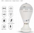 Hot LED Light Bulb WIFI Camera 360 Degree Wireless home Camera Bulb Lamp Fisheye