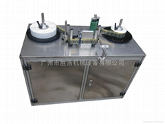 Label printing and rewinding machine