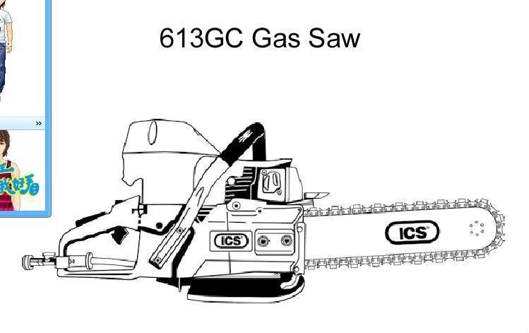 ICS汽油動力鏈鋸 2