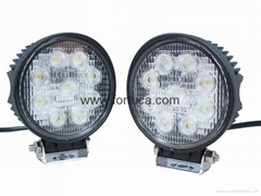 27W Square LED Work Lamp/Off road atv lights/12v 24v auto+work+light+led