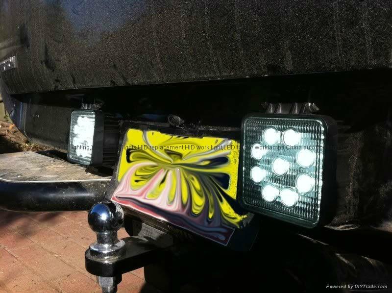 27w Led Work Light : W square led work lamp off road atv lights v auto