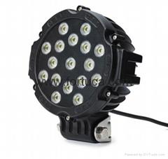 3600lm 43W LED Off-road Light 12V 24V Black LED Driving Light 4x4 Jeep Light