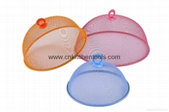Plastic spraying food plate cover