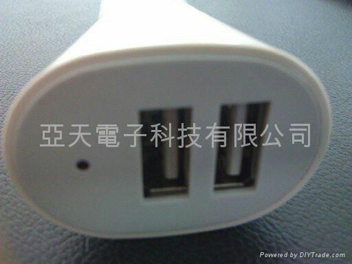 5V3.1A dual usb port Car Charger forgalaxy/iPad/iPhone5 2