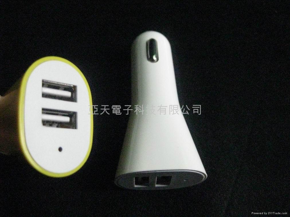 双USB车充5V3.1A车载双USB充电器 5