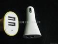 5V3.1A dual usb port Car Charger forgalaxy/iPad/iPhone5 5