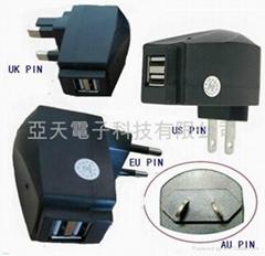 雙USB充電器,雙USB旅行充電器