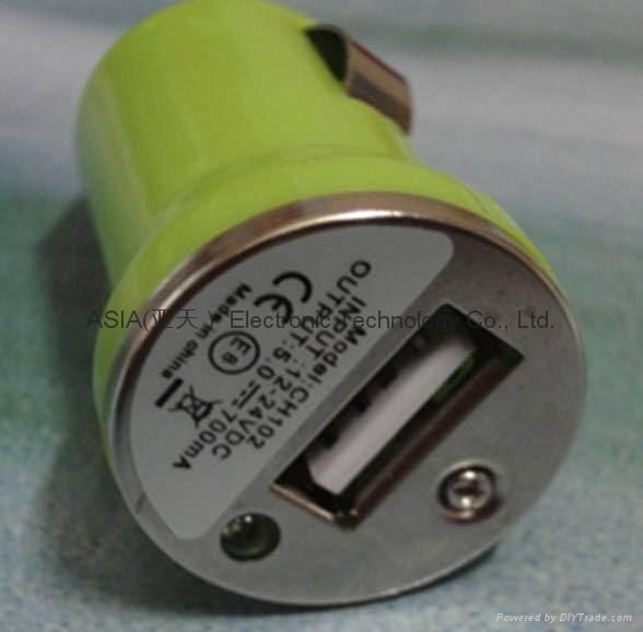 USB-MINI Car charger.iphone car charger 4