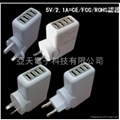4-Port USB Travel charger 5V2100mA