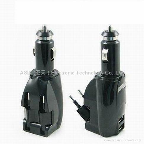多功能二合一车用家用双USB充电器 1
