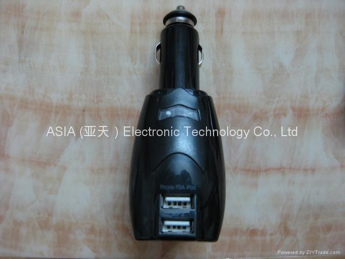 多功能二合一车用家用双USB充电器 3
