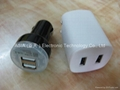 Dual USB Car charger for galaxy/ipad 5