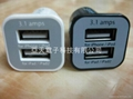 5V3.1A Car Chargers For ipad/iPhone 3