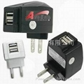 Dual USB AC charger,  dual USB travel charger 2