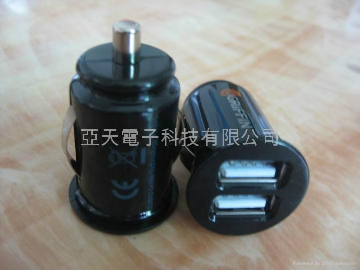 5V2000mA Mini carcharger, 2A-usb car charger 1