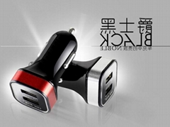 MINI雙USB車載充電器