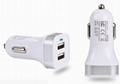 MINI Car chargers,IPAD car chargers,Dual USB Car chargers 2