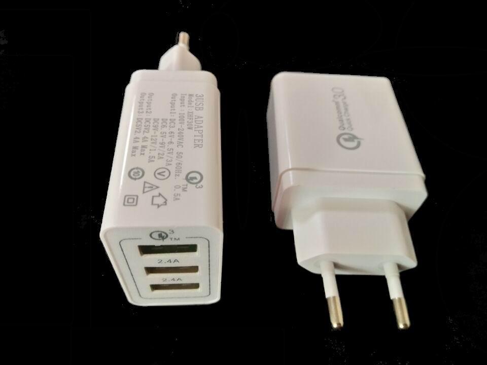 高通3.0手機快充、QC3.0快充/3個USB口帶快充3.0 2