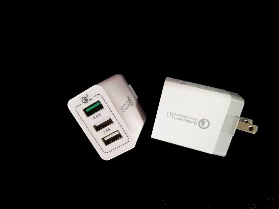 高通3.0手機快充、QC3.0快充/3個USB口帶快充3.0 4