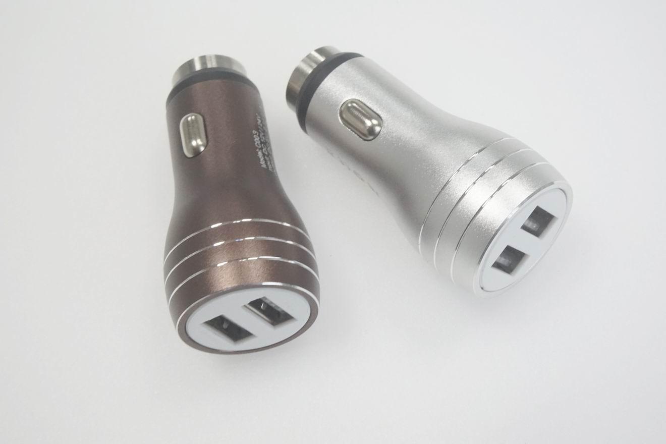 破窗錘車載USB車充金屬外殼、2.4a快速充電雙usb口車充、CE/FCC認証車充 7