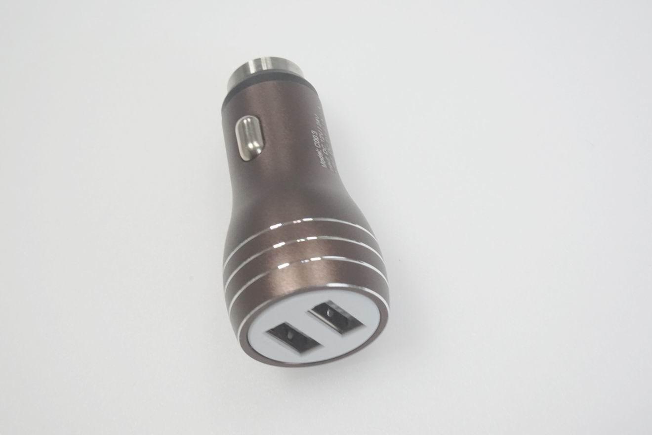破窗錘車載USB車充金屬外殼、2.4a快速充電雙usb口車充、CE/FCC認証車充 8