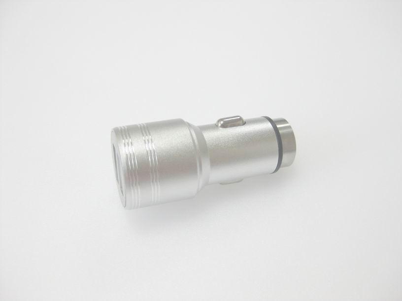 破窗錘車載USB車充金屬外殼、2.4a快速充電雙usb口車充、CE/FCC認証車充 9