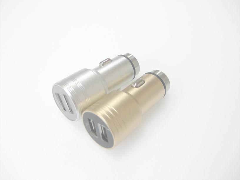 破窗锤车载USB车充金属外壳、2.4a快速充电双usb口车充、CE/FCC认证车充 3
