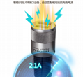 Knurled car charger 5v2.4a dual usb car charger CE / FCC 4