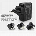4個usb接口旅行充電器全球通